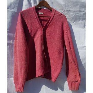 Vintage Shetland Wool Cardigan Sweater